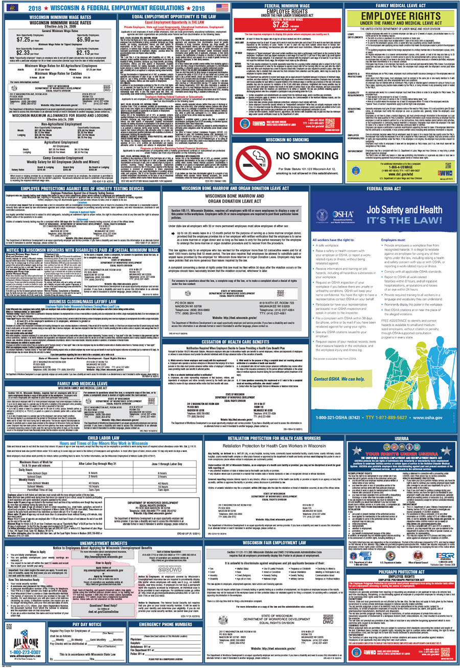 f104a61674a8 Wisconsin   Federal Combination Poster (Spanish) – Compliance